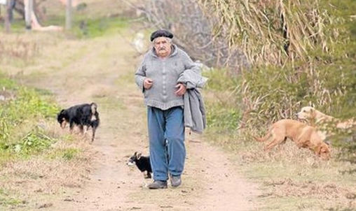 This is the President of Uruguay on an average day, José Mujica.