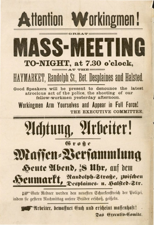Haymarket Meeting Flyer