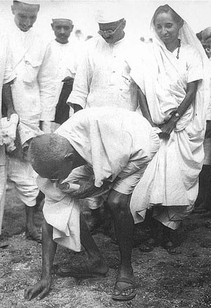 Gandhi at the Salt March