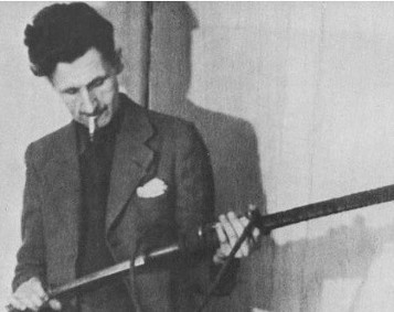 George Orwell with Rifle