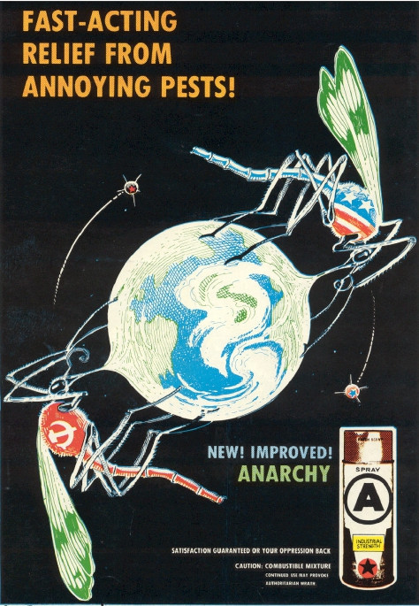 cold war era anarchist poster