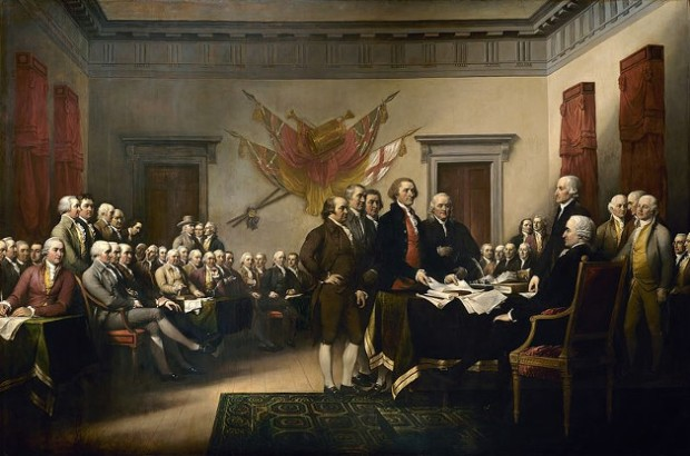 "John Trumbull's ""Declaration of Independence."""