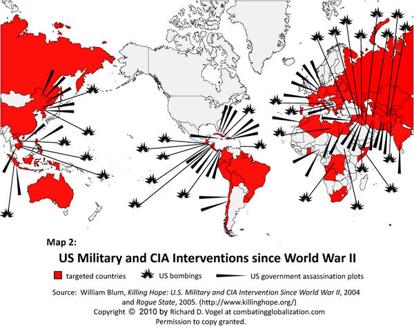 US Military & CIA Interventions